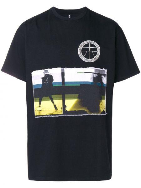 Czarny t-shirt bawełniany krótki rękaw Astrid Andersen