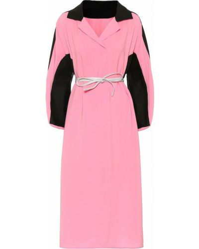 Платье миди розовое льняное Marni