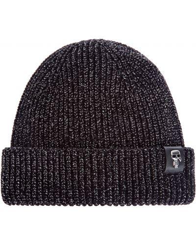 Теплая шапка - черная Karl Lagerfeld