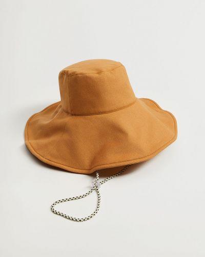 Brązowa czapka bawełniana Mango