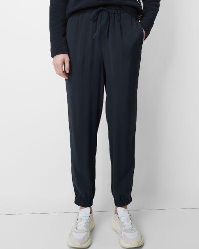 Синие спортивные брюки с завязками с карманами из вискозы Marc O' Polo