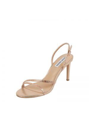 Złote sandały na szpilce Steve Madden
