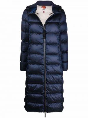 Синее пальто с капюшоном Parajumpers