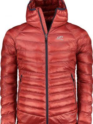 Czerwona kurtka sportowa z kapturem materiałowa Hannah