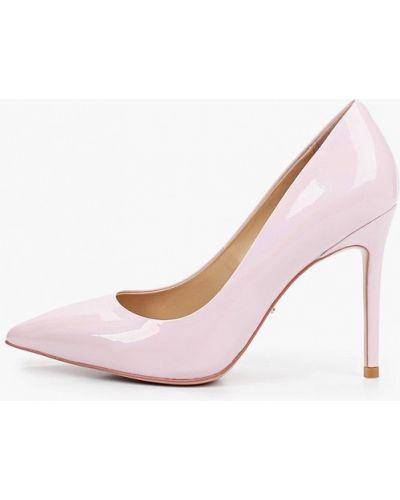 Лаковые кожаные розовые туфли-лодочки Vitacci