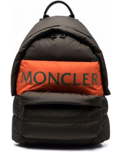 Plecak z printem - zielony Moncler