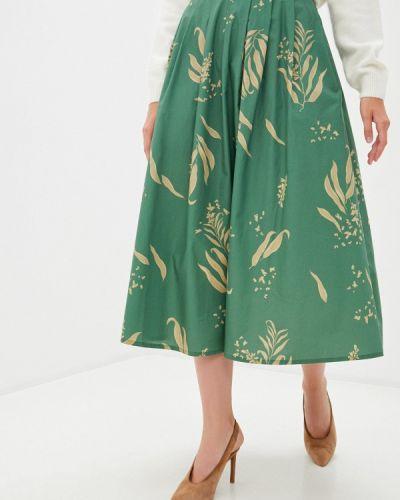 Зеленая юбка свободного кроя Akhmadullina Dreams