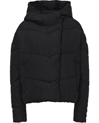 Черная куртка с капюшоном на кнопках с капюшоном Noisy May