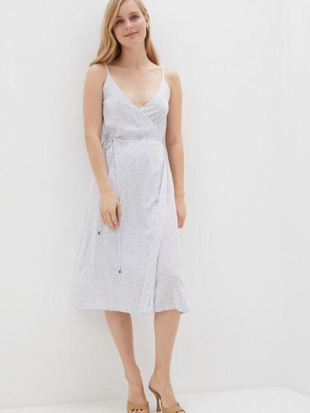 Белое однобортное платье Krismarin