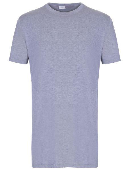 Серая базовая футболка с круглым вырезом с короткими рукавами Zimmerli
