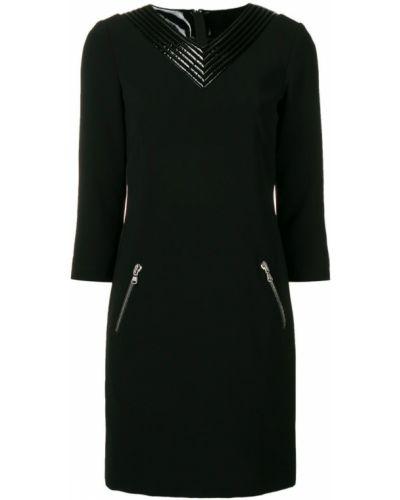 Платье мини с карманами с рукавами Moschino