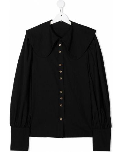 Czarna bluzka z długimi rękawami bawełniana Little Creative Factory Kids