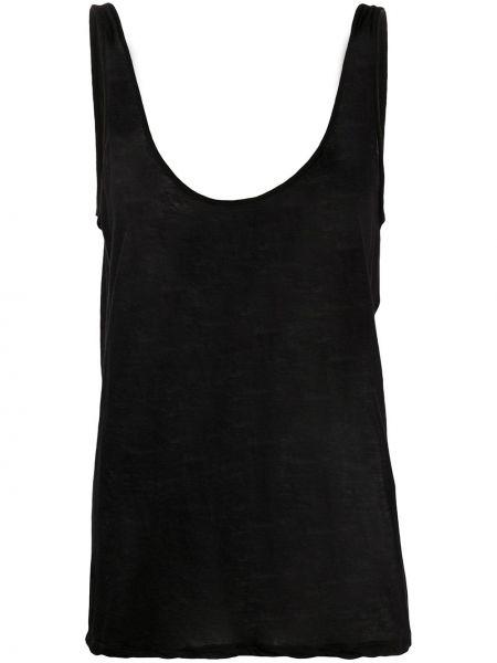 Czarna kamizelka bez rękawów bawełniana Rick Owens