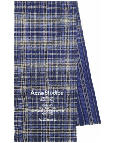 Синий шерстяной шарф Acne Studios