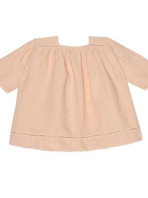 Летнее платье розовое льняное Caramel
