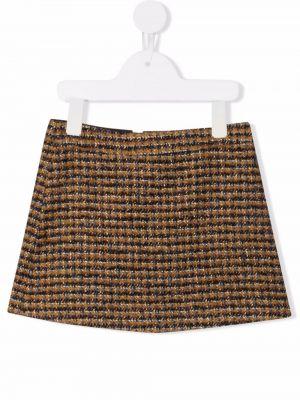 Spódniczka mini - brązowa Bonpoint