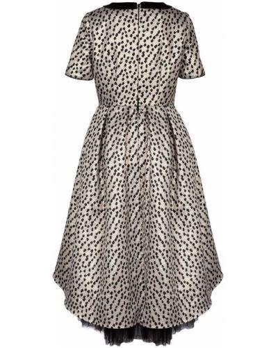 Платье с рукавами хлопковое с принтом смена