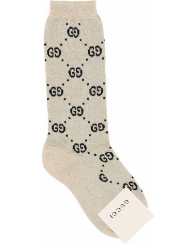 Beżowy bawełna bawełna skarpetki Gucci
