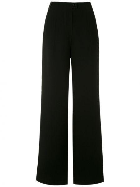 Szerokie spodnie z wysokim stanem czarne Gloria Coelho
