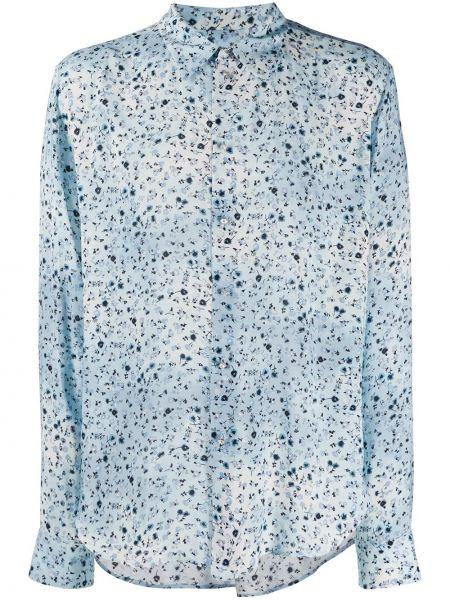 Niebieska koszula bawełniana z długimi rękawami Garçons Infideles