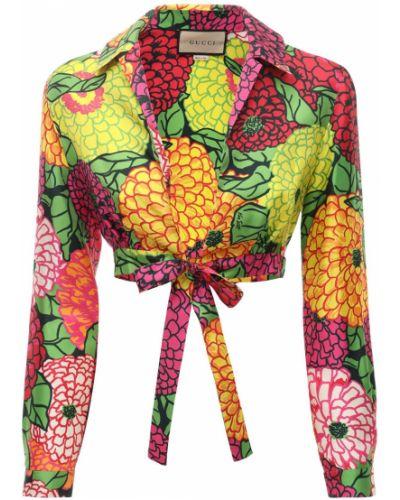 Jedwab crop top Gucci