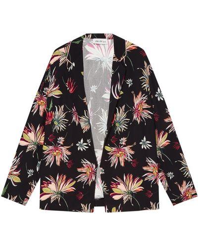 Прямой удлиненный пиджак с воротником из вискозы ли-лу