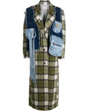 Длинное пальто с капюшоном на пуговицах Natasha Zinko