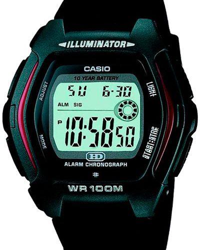 Часы водонепроницаемые с подсветкой зеленый Casio
