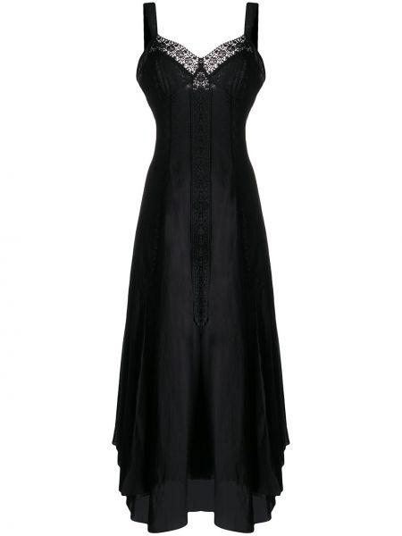 Платье с вышивкой - черное Charo Ruiz Ibiza