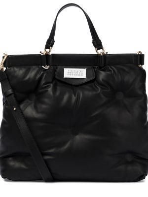 Czarna torba na ramię skórzana do biegania Maison Margiela