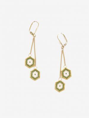 Zielone złote kolczyki ze złota Renee