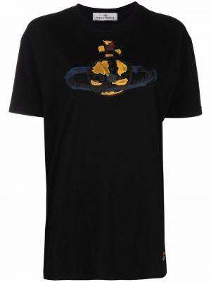 Черная хлопковая футболка Vivienne Westwood
