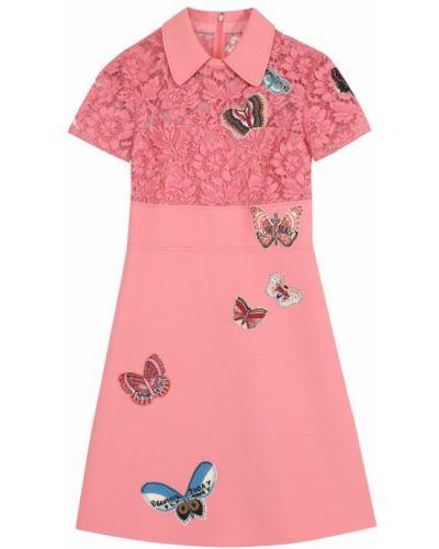 Платье мини розовый миди Valentino