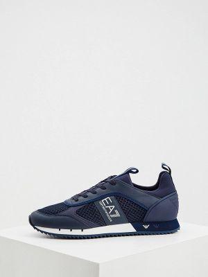 Синие зимние низкие кроссовки Ea7