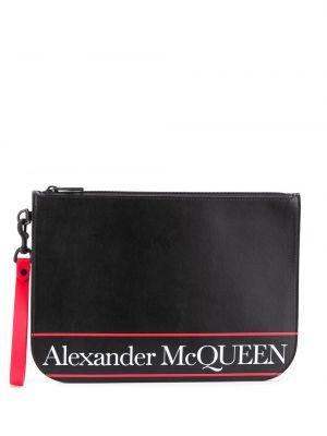 Czarna kopertówka skórzana Alexander Mcqueen