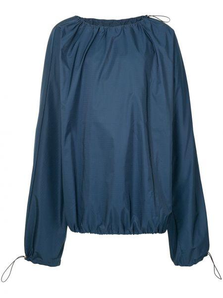 Niebieska bluza z haftem z długimi rękawami Botter