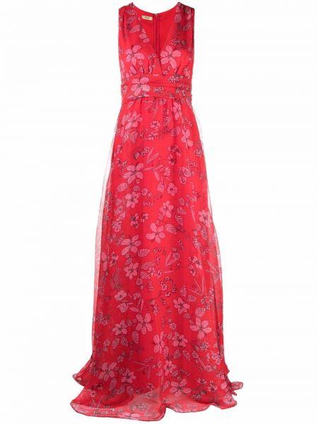 Czerwona sukienka z dekoltem w serek Liu Jo