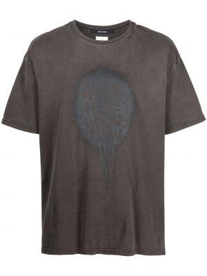Czarna koszulka z printem Ksubi