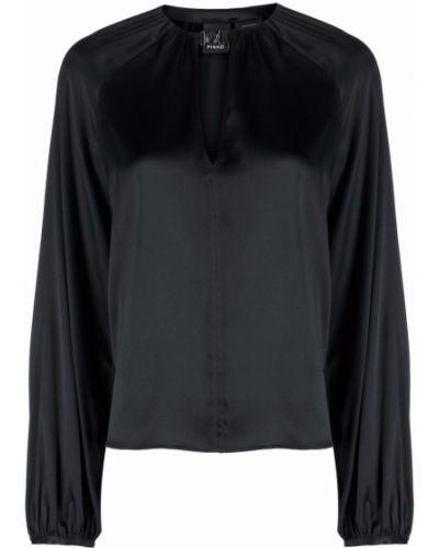 Bluzka z jedwabiu - czarna Pinko