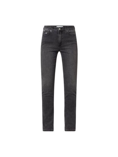 Jeansy rurki z wysokim stanem bawełniane Calvin Klein Jeans