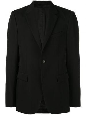 Классический пиджак черный с лацканами Wardrobe.nyc