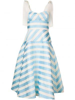 Приталенное платье миди на молнии с вырезом из вискозы Delpozo