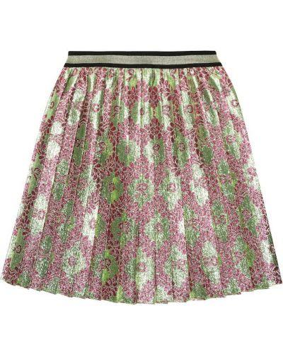Плиссированная юбка пачка со шлейфом Gucci Kids
