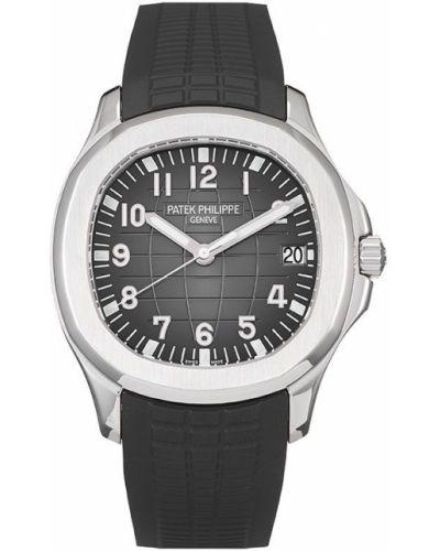 Пуховые с ремешком серебряные часы Patek Philippe