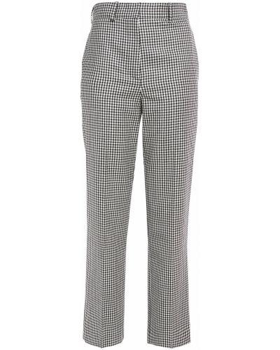 Szare spodnie wełniane z paskiem Racil