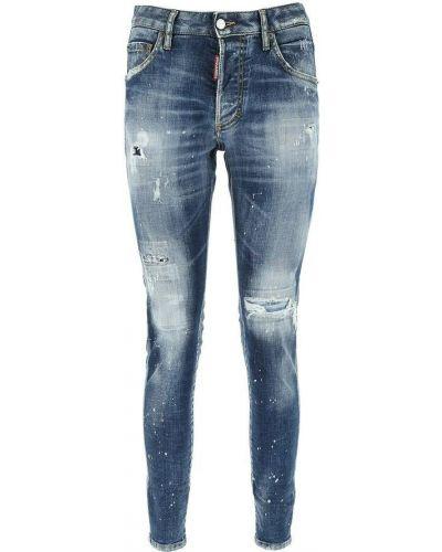 Niebieskie mom jeans Dsquared2