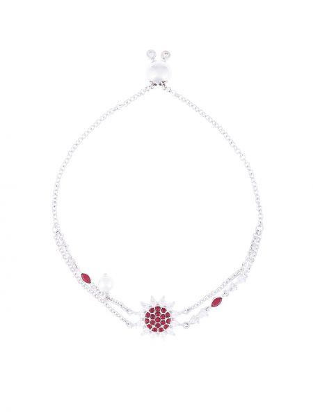Ażurowa bransoletka perły srebrna Atelier Swarovski