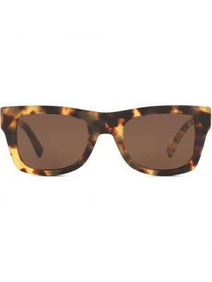 Коричневые солнцезащитные очки квадратные Valentino Eyewear