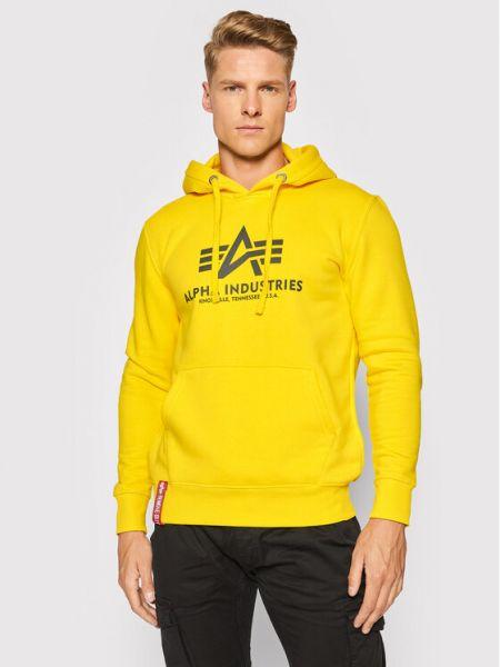 Bluza - żółta Alpha Industries