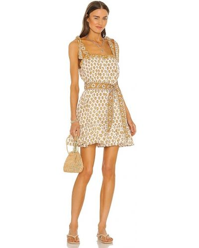 Sukienka mini bawełniana z printem Cleobella